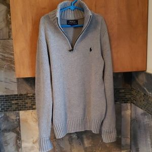 Ralph Lauren Polo boys half zip sweater